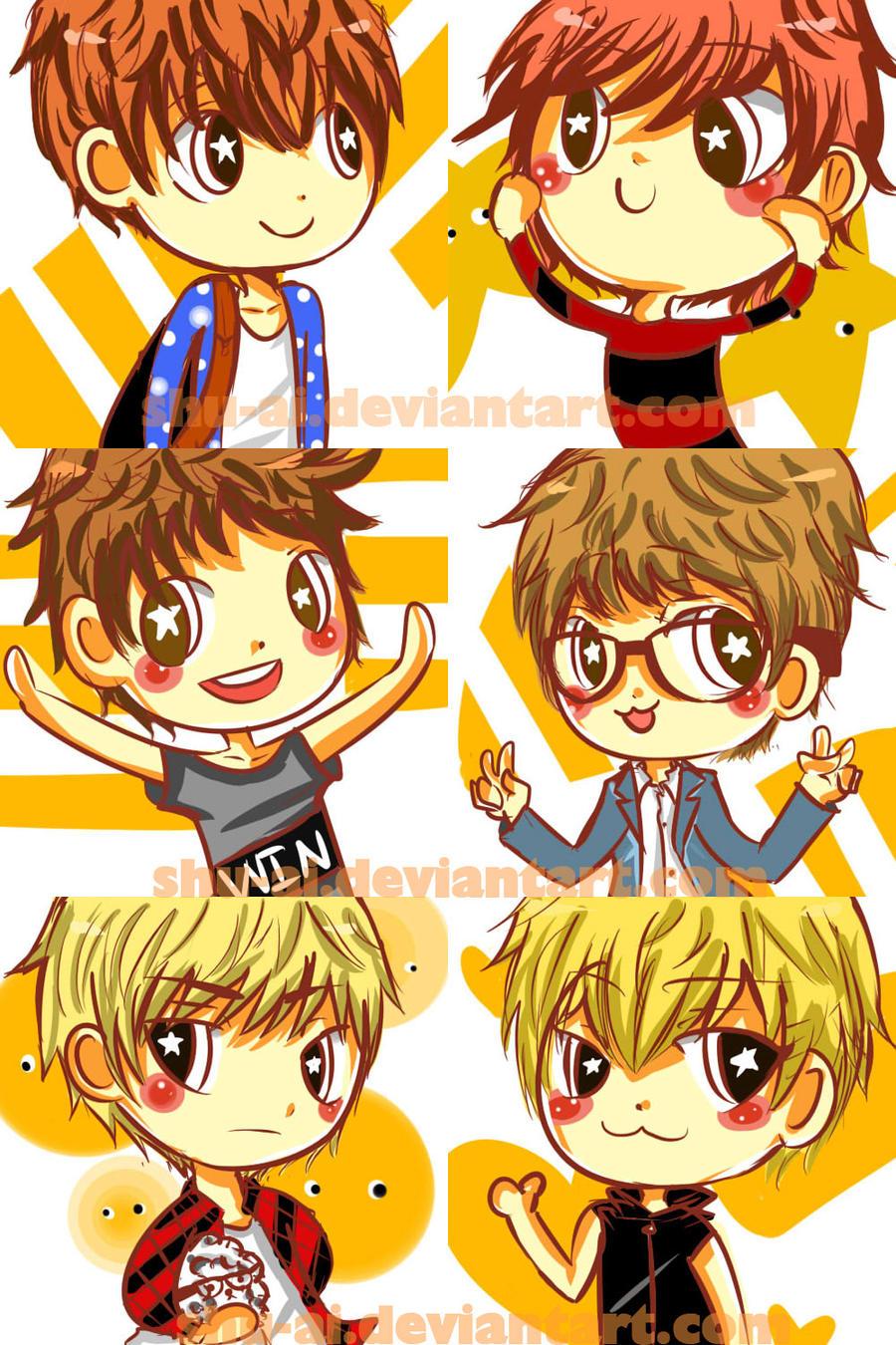 Exo M Cartoon Icons By Shu Ai On Deviantart Gambar Kartun Chen