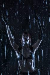Metal Gear Solid V: The Phantom Pain - Rain Quiet by tniwe