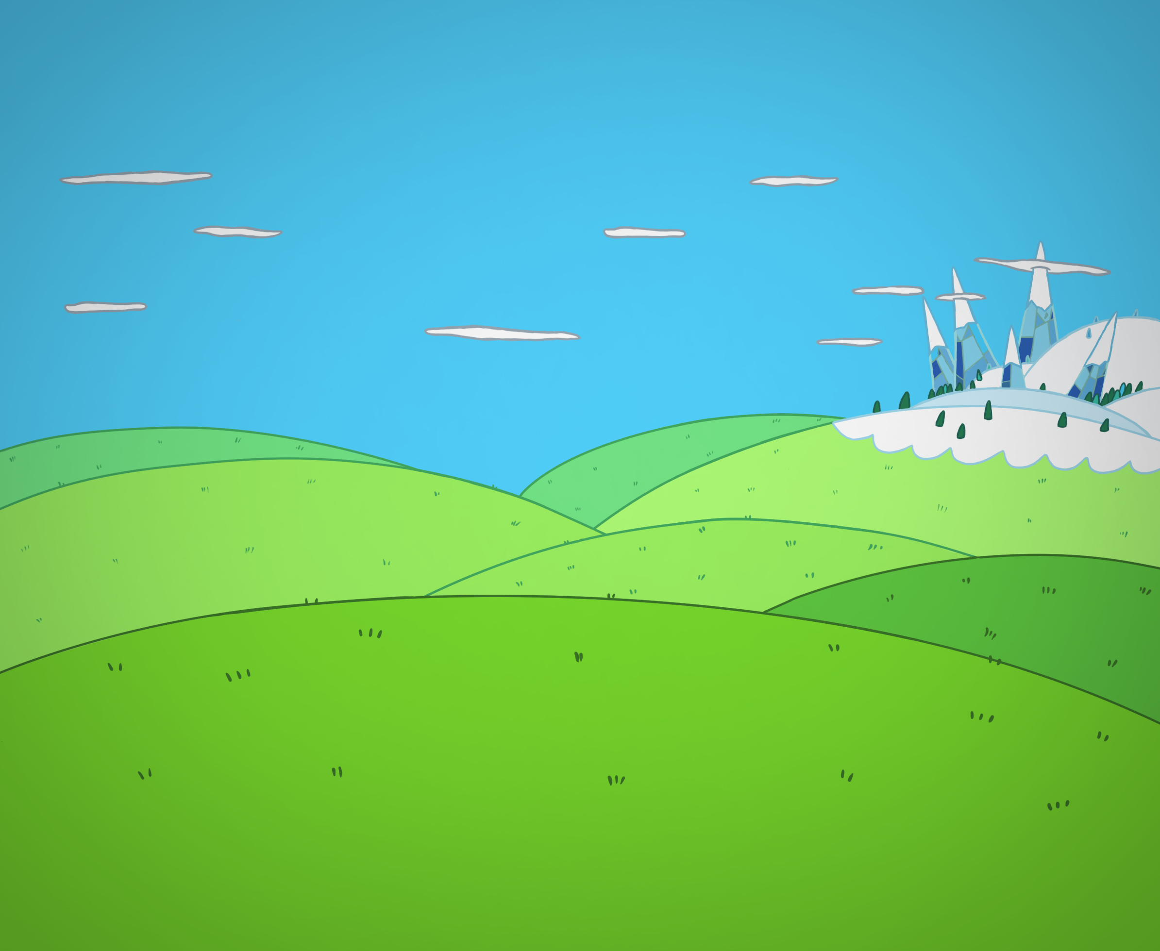 adventure time background by Tex-Tin-Star