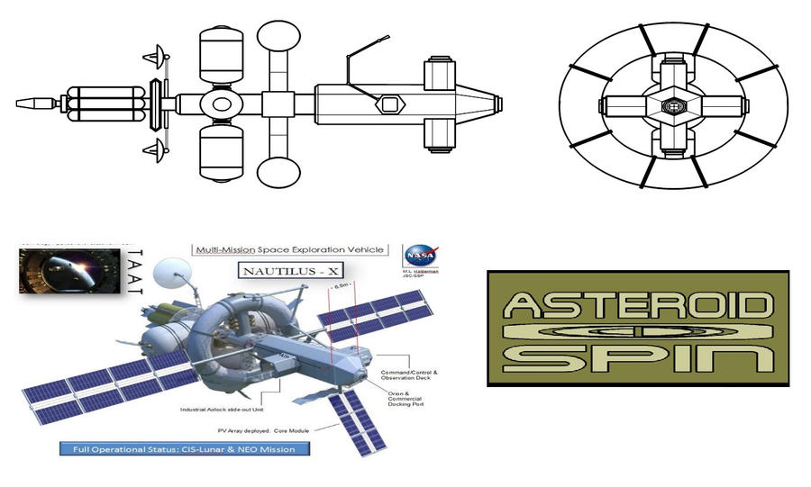 Asteroid Spin Spaceship Blueprints by timelike01 on DeviantArt