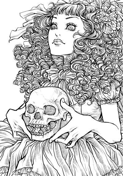 Skull I by RafaellaRyon