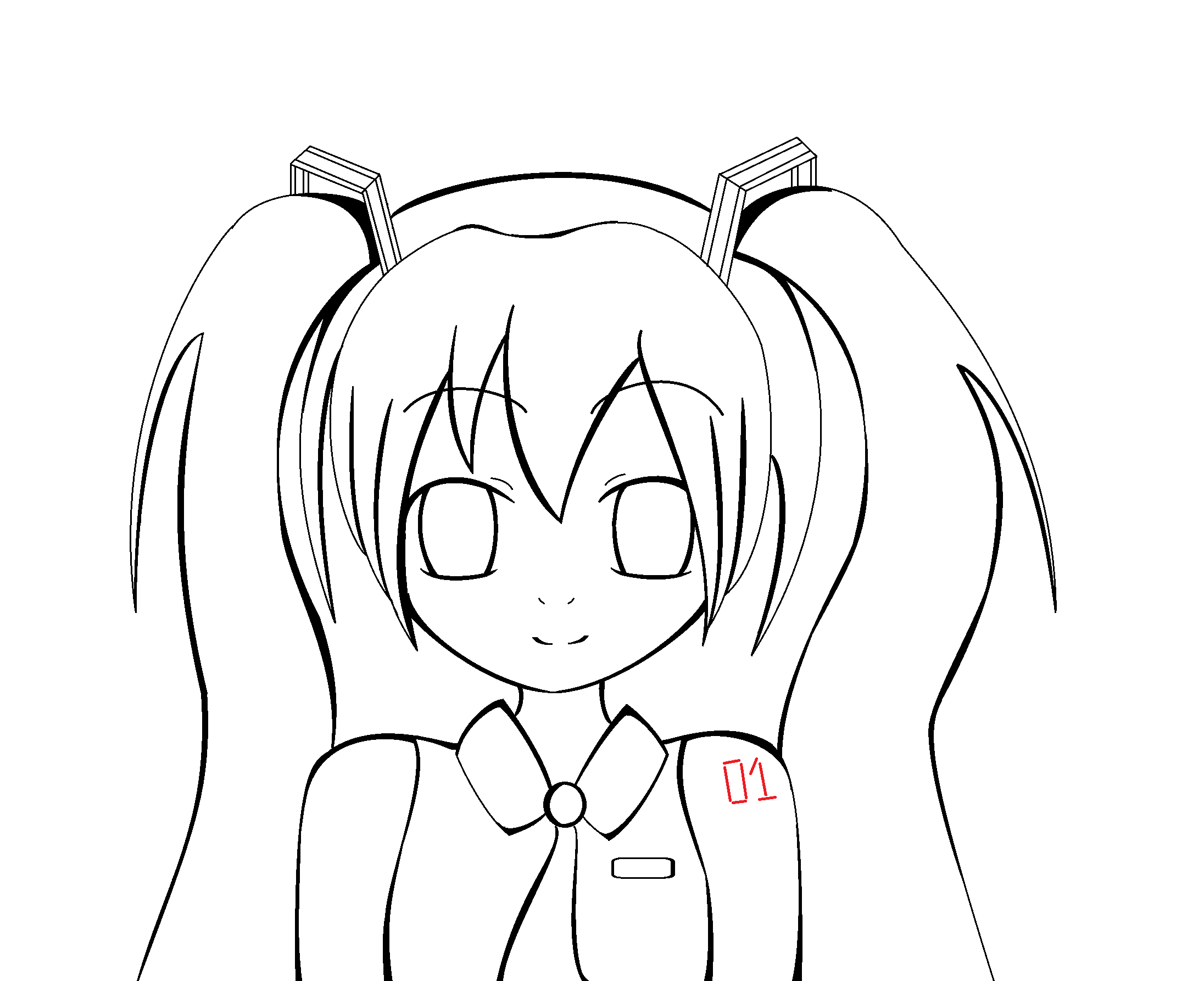 hatsune miku coloring pages - hatsune miku coloring base by thecreepyfan on deviantart