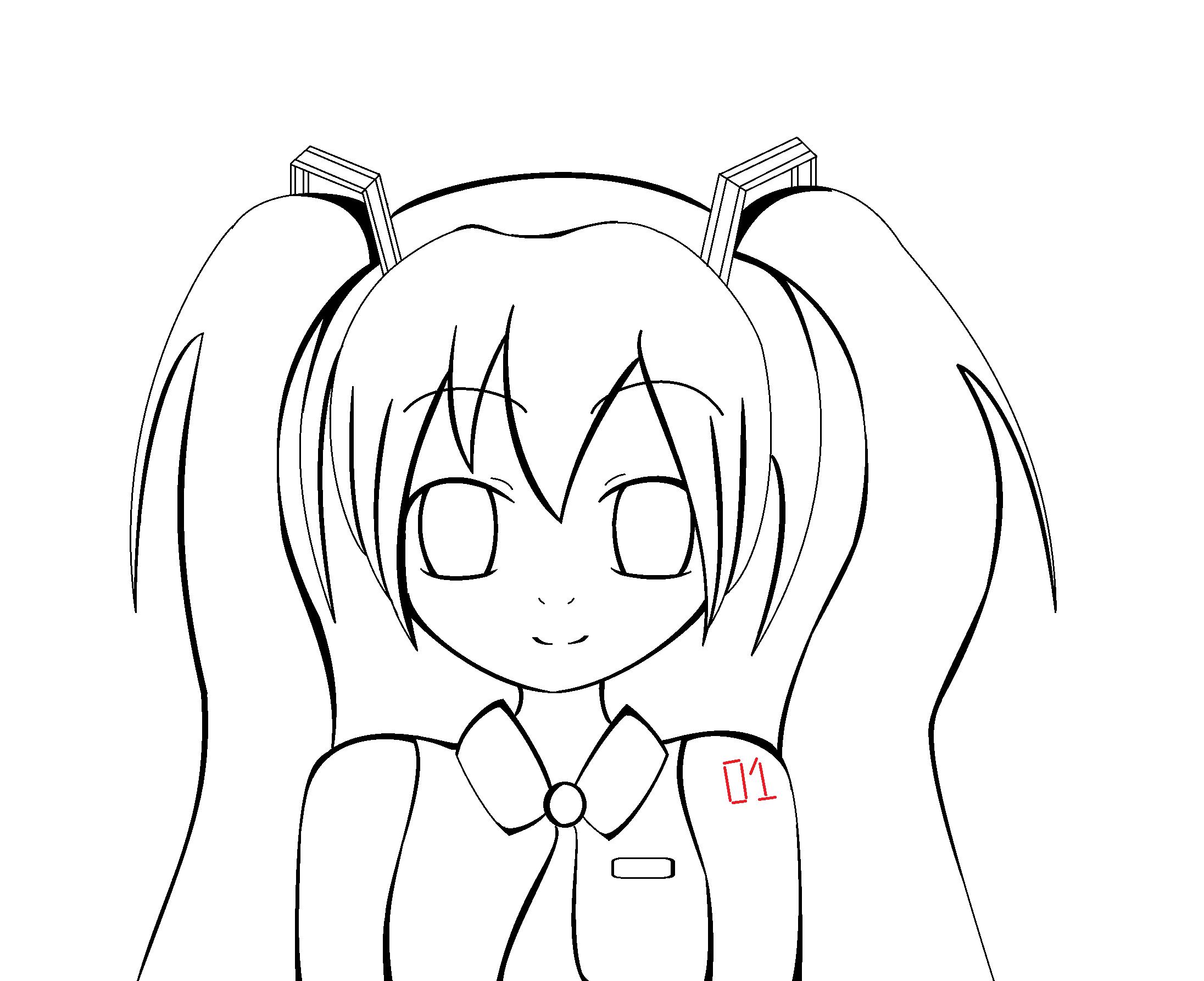 hatsune miku coloring base by thecreepyfan on deviantart