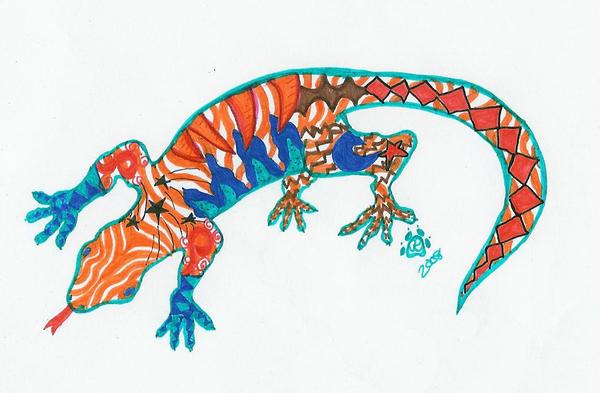 Tribal Geko Tattoo by ~tears-of-blood911 on deviantART
