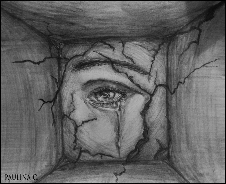 Drawings Sadness And Dark: Sad Eye By Paulinac On DeviantArt