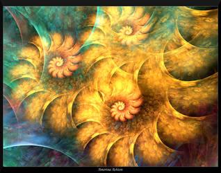 Spiraled Sunflower Garden by AmorinaAshton