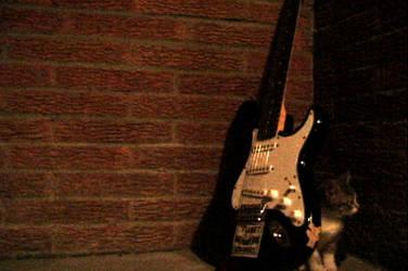 Loki Under Guitar by tonmeister