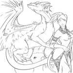WoW - Draenei and Dragon