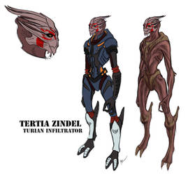 ME: Turian Female Concept by Terralynde