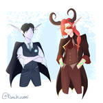 Astaroth and Alastaryl for Winter Ball by Kimchuumi