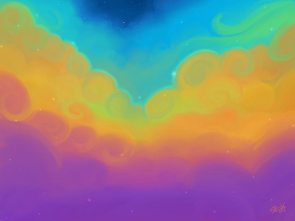 Rainbow Clouds Wallpaper By Greendesire