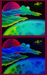 Blacklight Space Painting