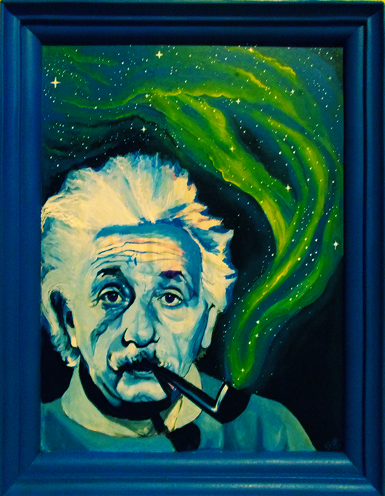 Einstein smoking space by greendesire