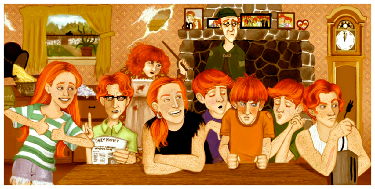 Jeu des dessins HP! ^^ - Page 4 All_of_the_weasleys_by_greendesire-dbpaap