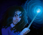 Hermione doing some stuff