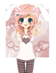 Peace out bunny girl
