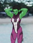 She-Hulk Stretch