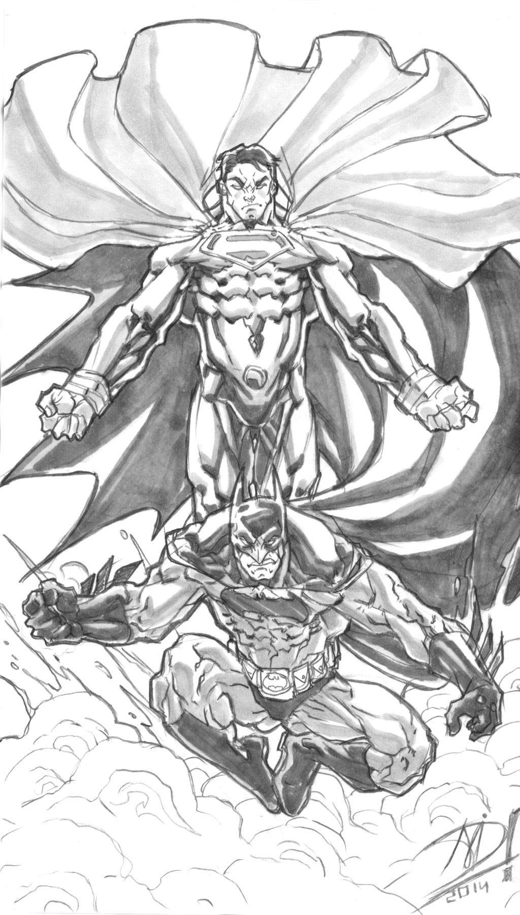 Superman V Batman - Tribute Sketch By Darnof On DeviantArt