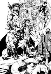 Batman - The Evil Moon - Commission by darnof