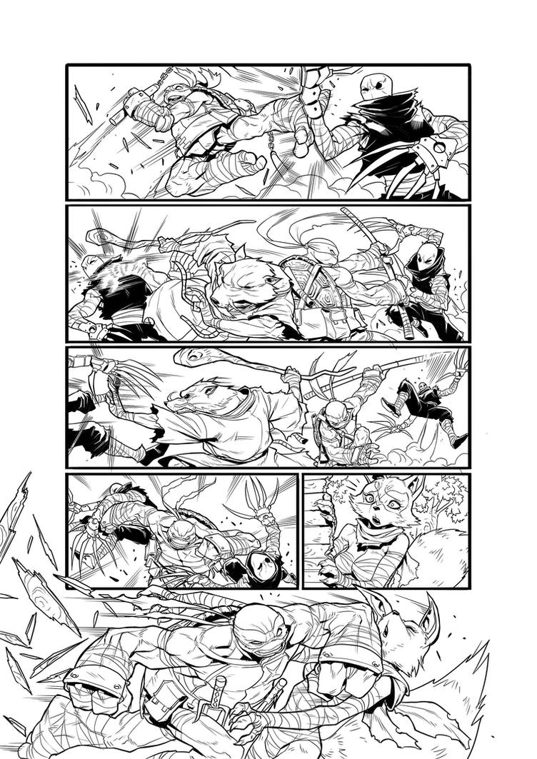TMNT - PAGE 04 by darnof