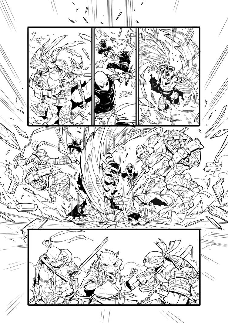TMNT  - PAGE 05 by darnof