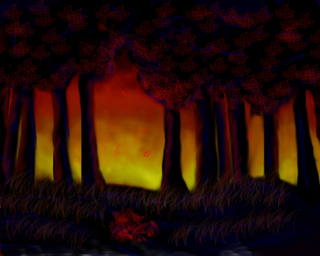 The Burning Forest by sinistra90