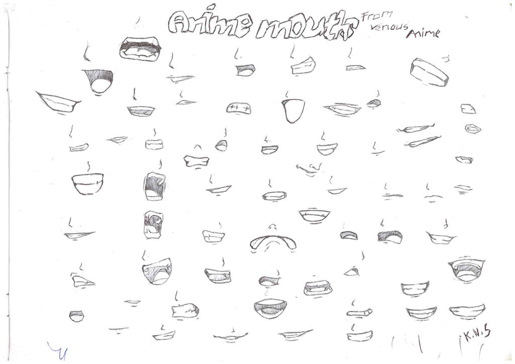 how to draw anime mouth expressions