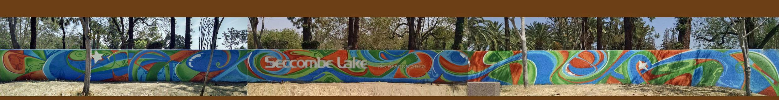 Park Mural by Phews