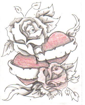 rose heart tattoo by itachislittlegirl on deviantart