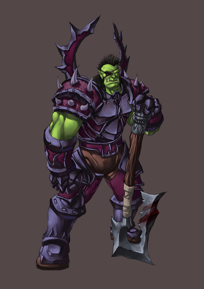 Comission - Orc Warrior by pulyx
