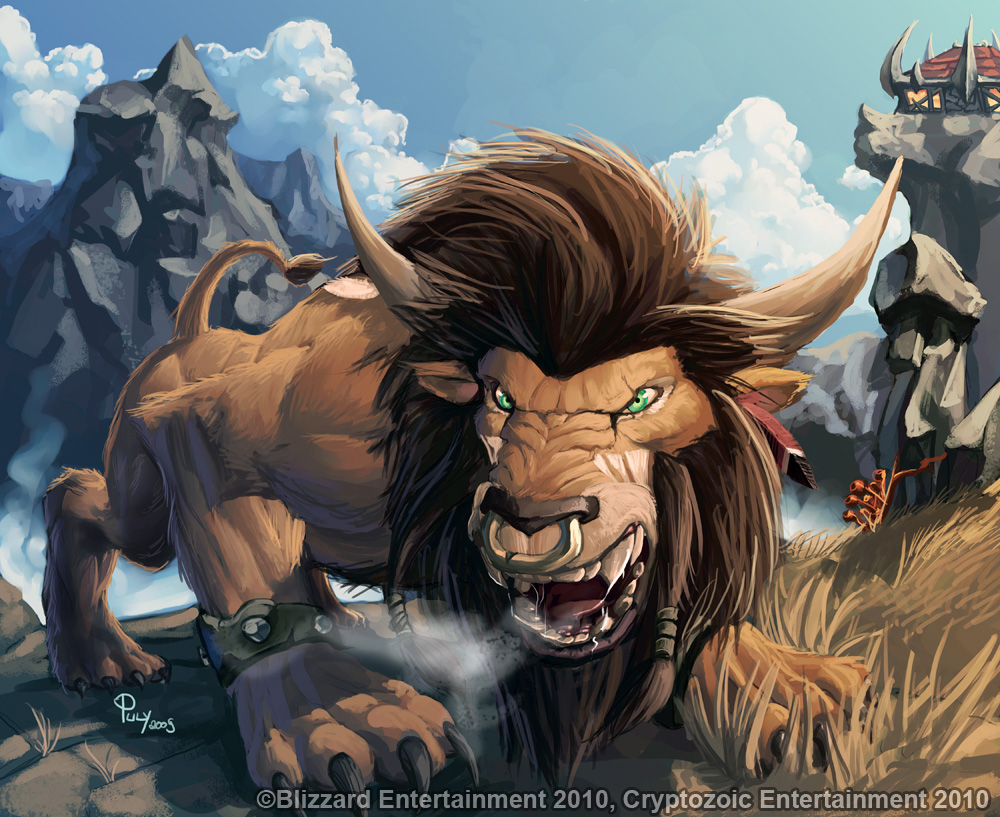 WoWTCG - Tauren Druid Cat Form by pulyx