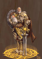 Anduin Lothar, Lion of Azeroth by pulyx