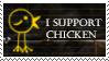 I support chicken by Trynnie