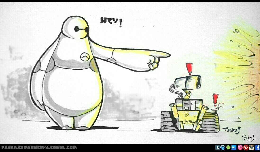 BAYMAX AND WALL-E concept art by PankajPandey4D on DeviantArt