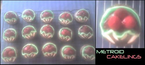 Metroid Cakelings by shortissimus