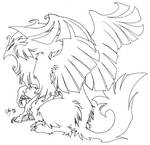 Lineart: Fluffy Gryph