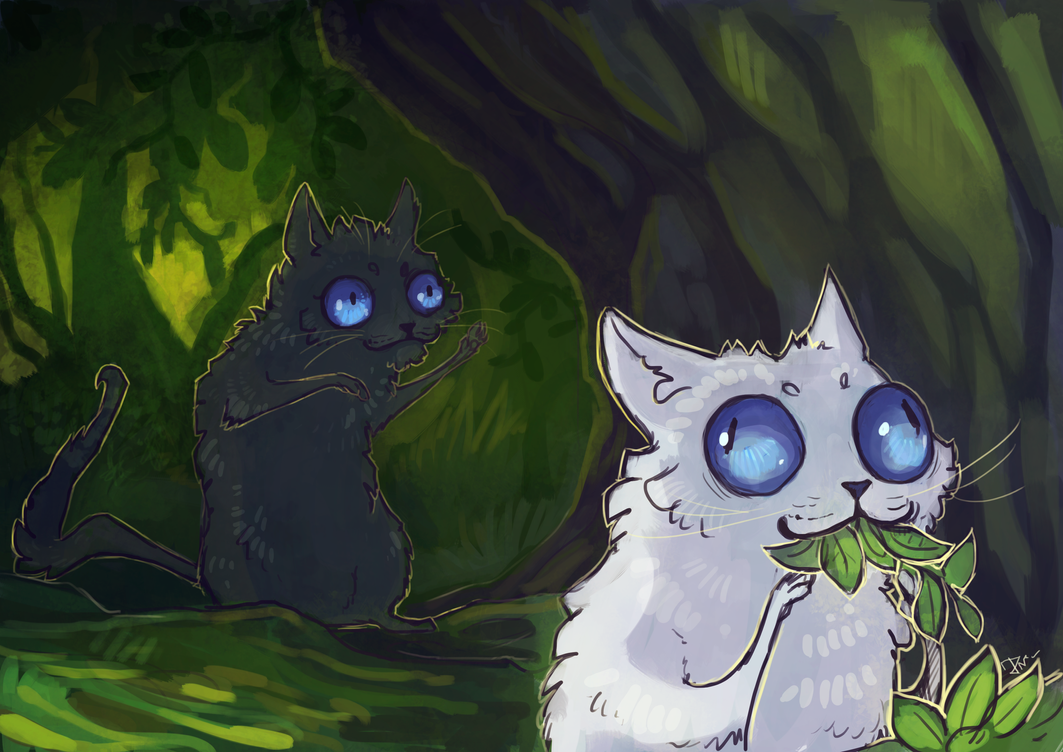 Cloudtail And Cinderpelt By Deathnear On Deviantart