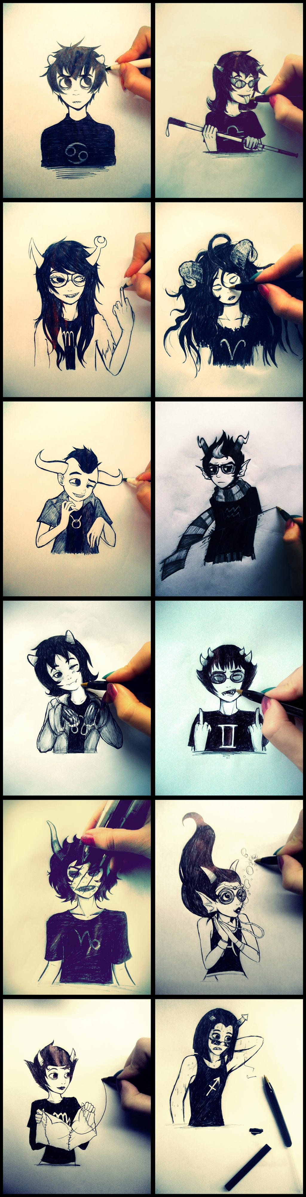Homestuck - Playing with trolls c: by MelSpontaneus