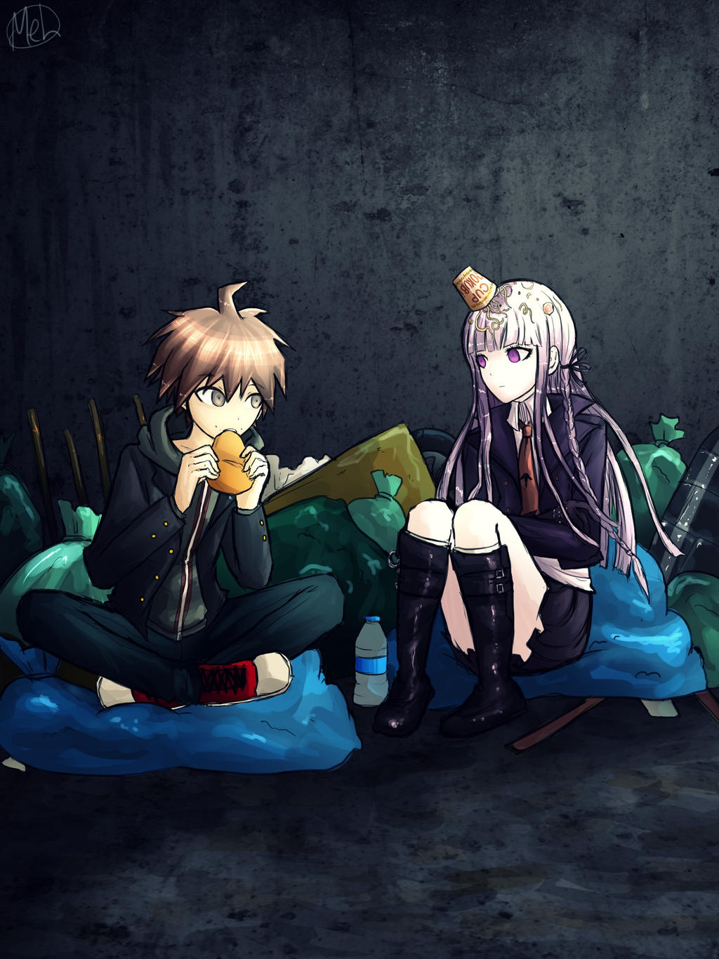 Dangan Ronpa - Naegi and Kirigiri by MelSpontaneus