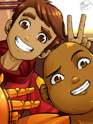 Bravest Warriors - Danny and Wallow by MelSpontaneus