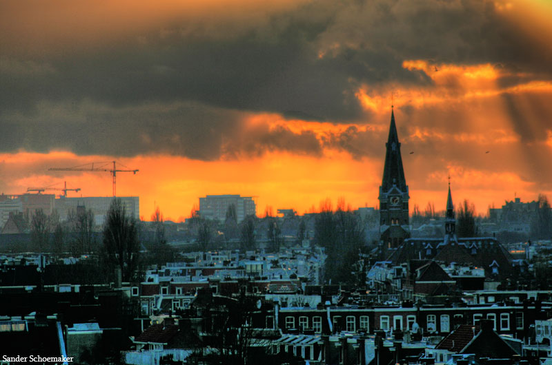 Amsterdam Sundown by Talescaper