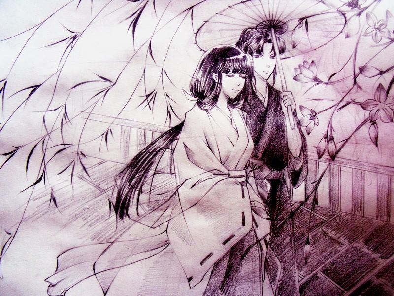 Album Kikyo_and_naraku_by_jiegengdai-d3fuis2