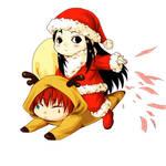 HxH merry christmas - Hisoka and illumi