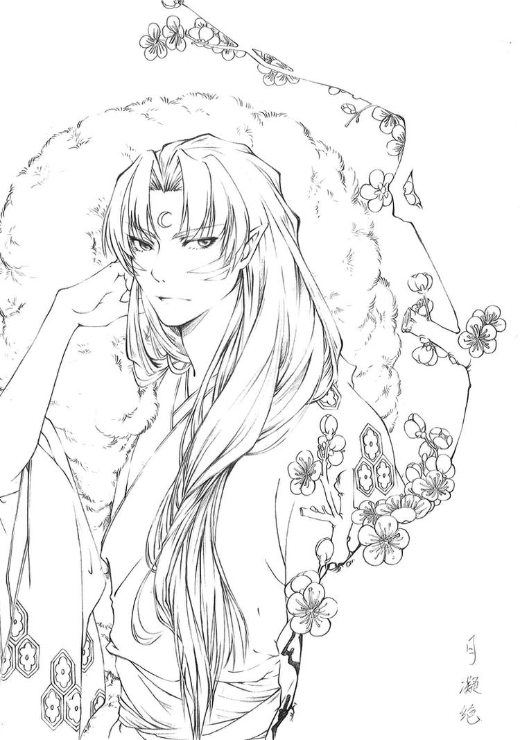 sesshomaru coloring pages-#13