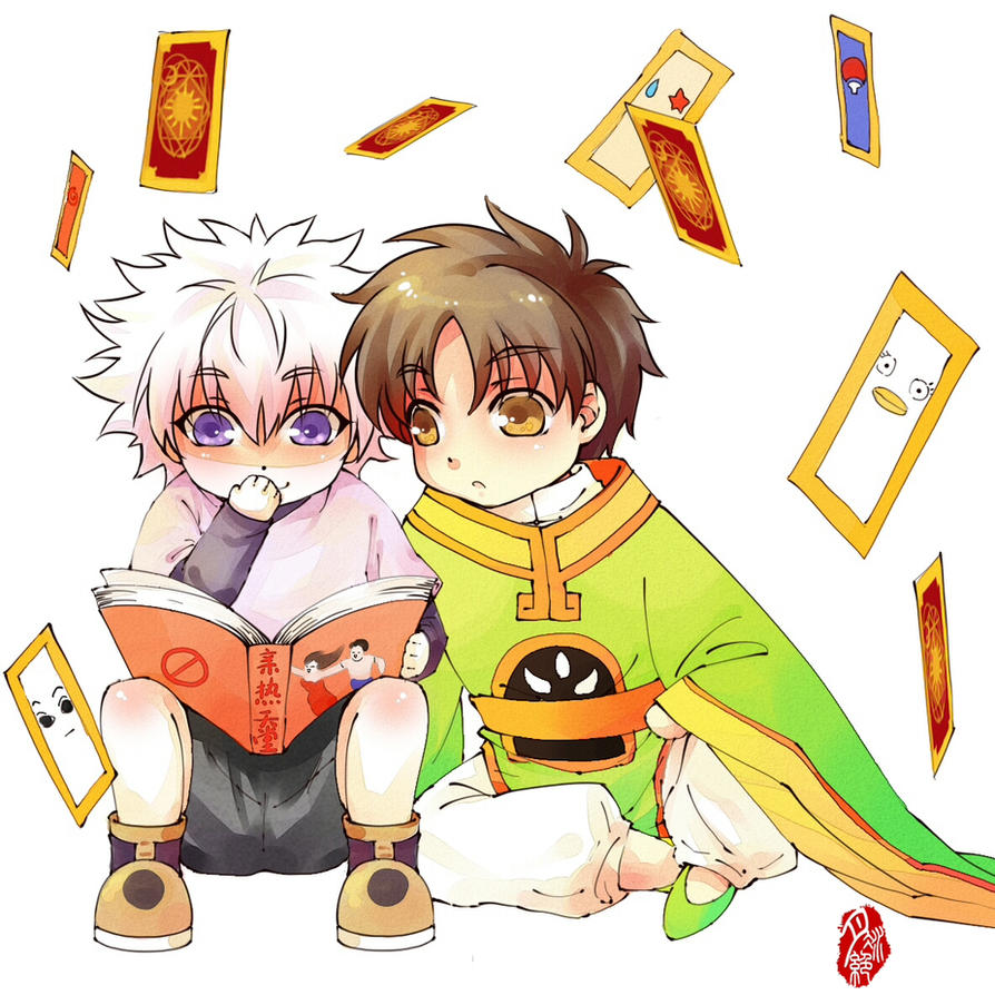 Killua and Syaoran by jiegengDai