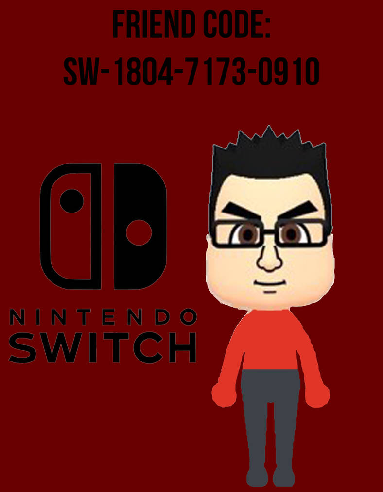 Nintendo Switch Friend Code by djmuzic95
