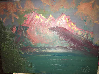 Oil Painting #2 closer view by Errikstapley