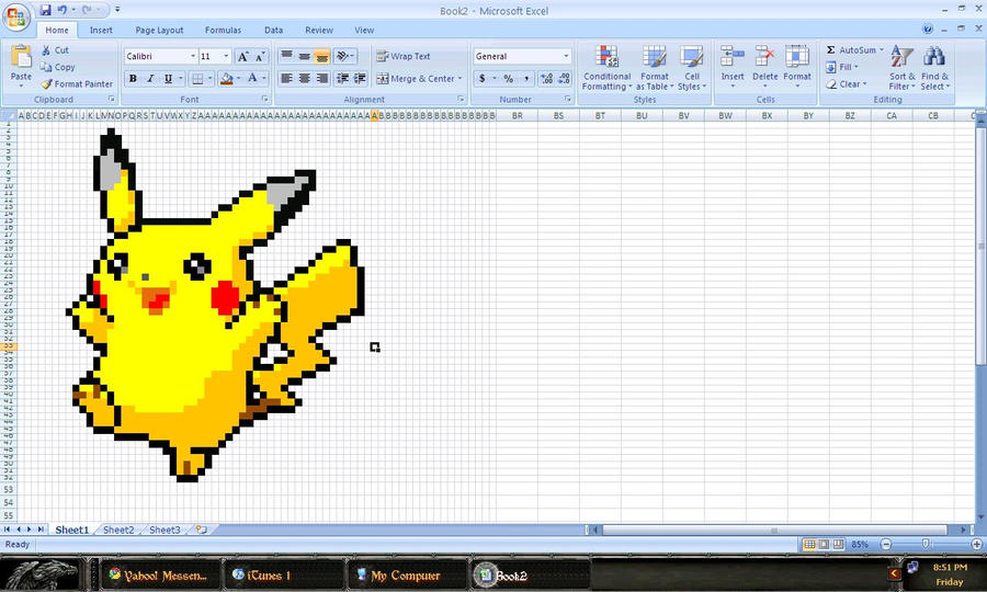 Pikachu is MS Excel :D by CrowKuroa