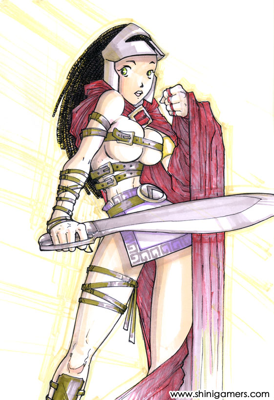 Cool Spartan Warrior Drawing