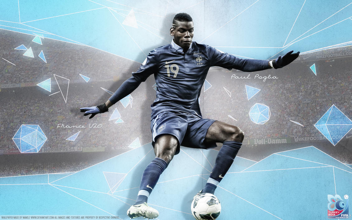 Paul Pogba France 2013 By Namo,7 By 445578gfx On DeviantArt
